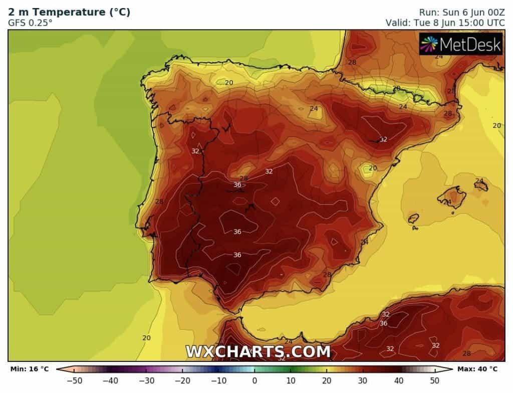 Upał w Hiszpanii