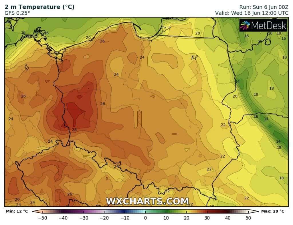 Upał w Polsce w połowie czerwca