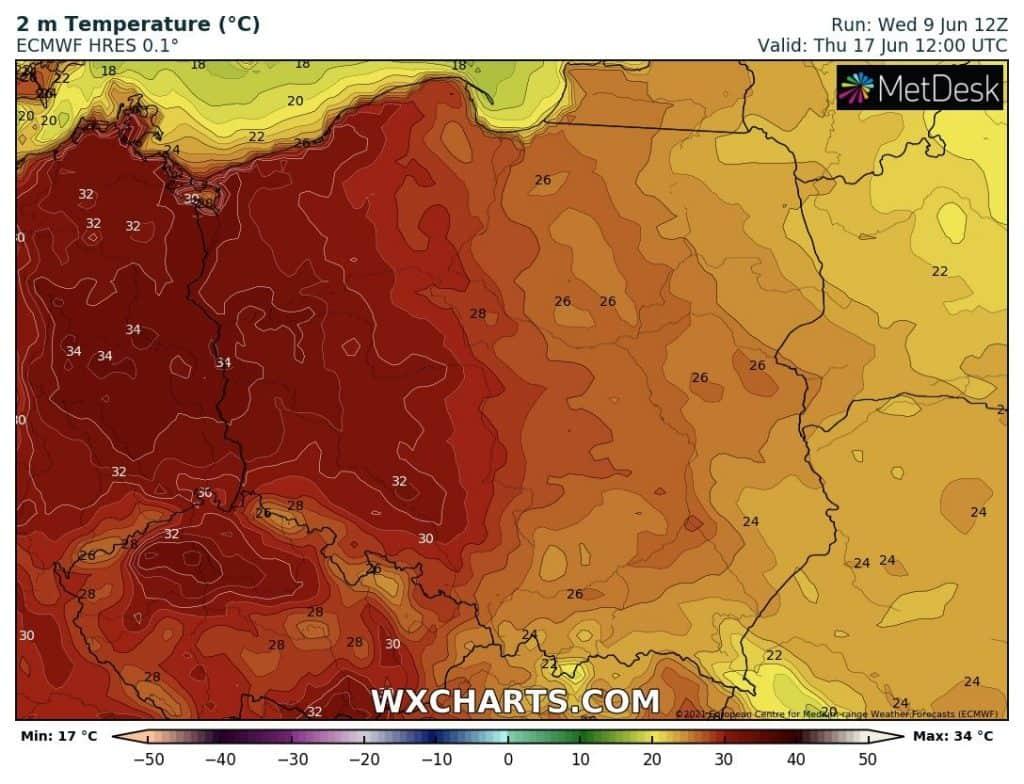 Upał w Polsce. Nawet 34 stopnie