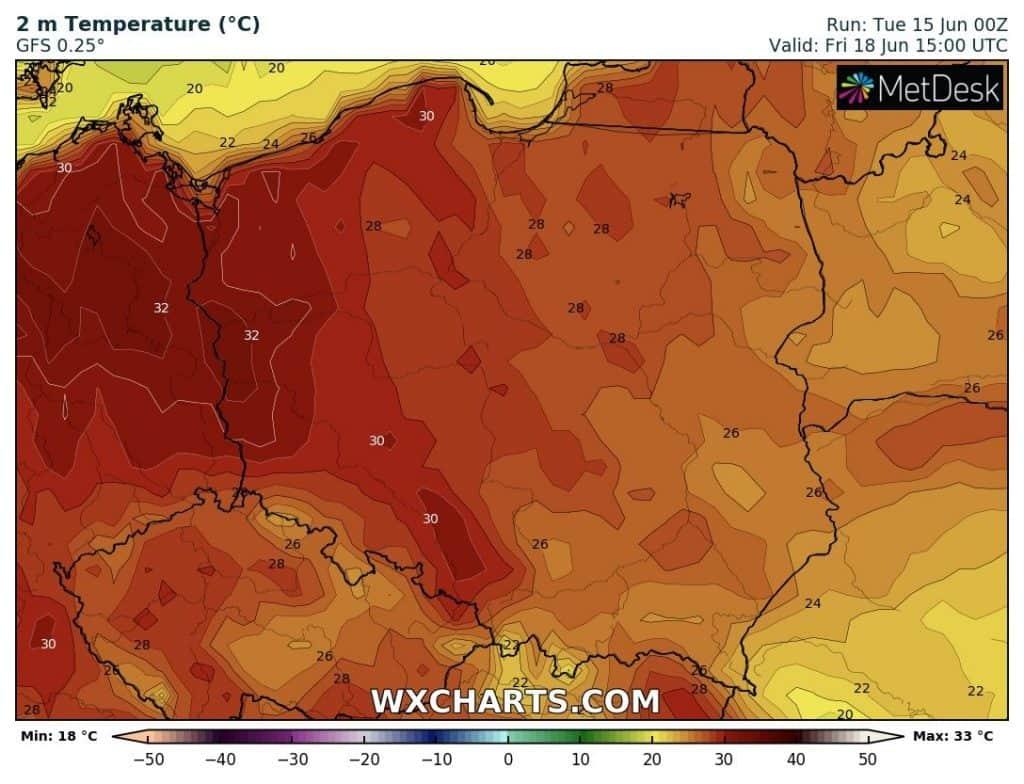 Upał w Polsce pod koniec tygodnia