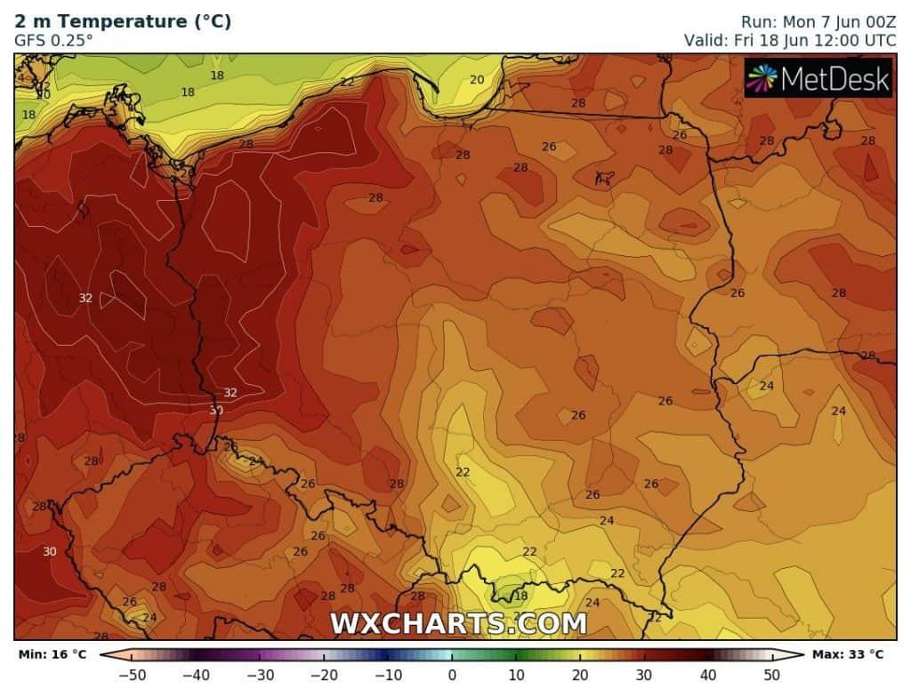 Upał w Polsce po 15 czerwca