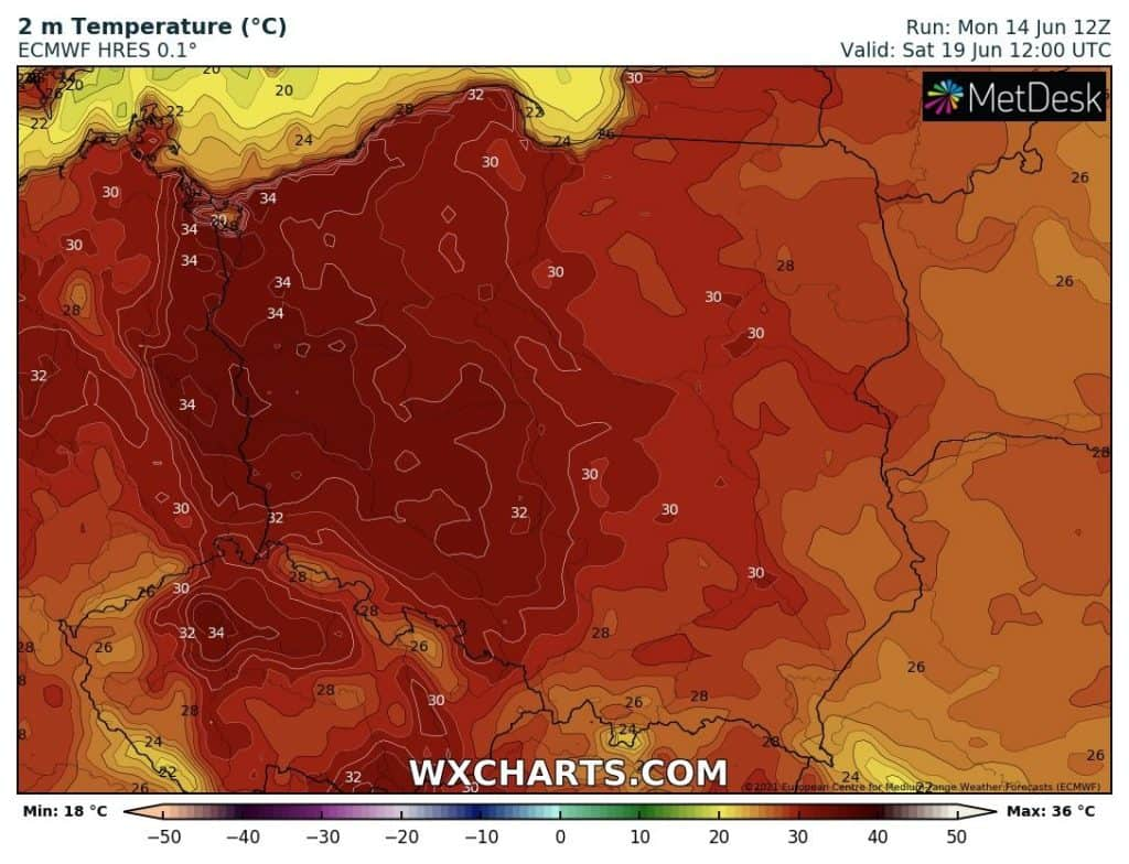 Upał w Polsce w nadchodzący weekend