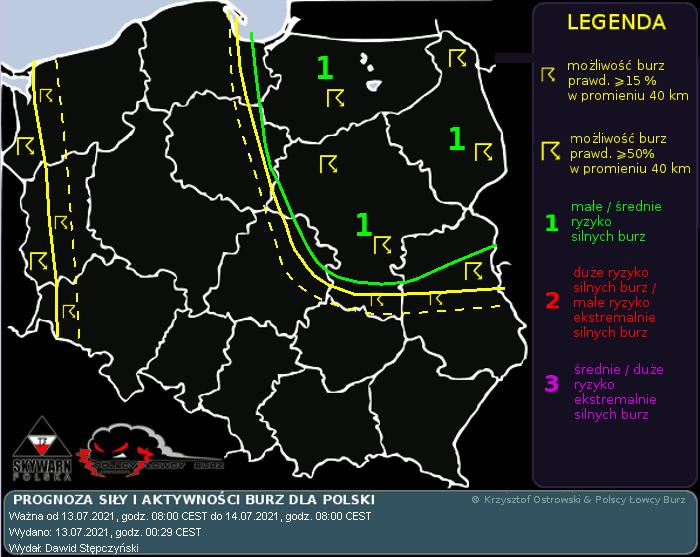 Burze 13 lipca Polsce Łowcy Burz