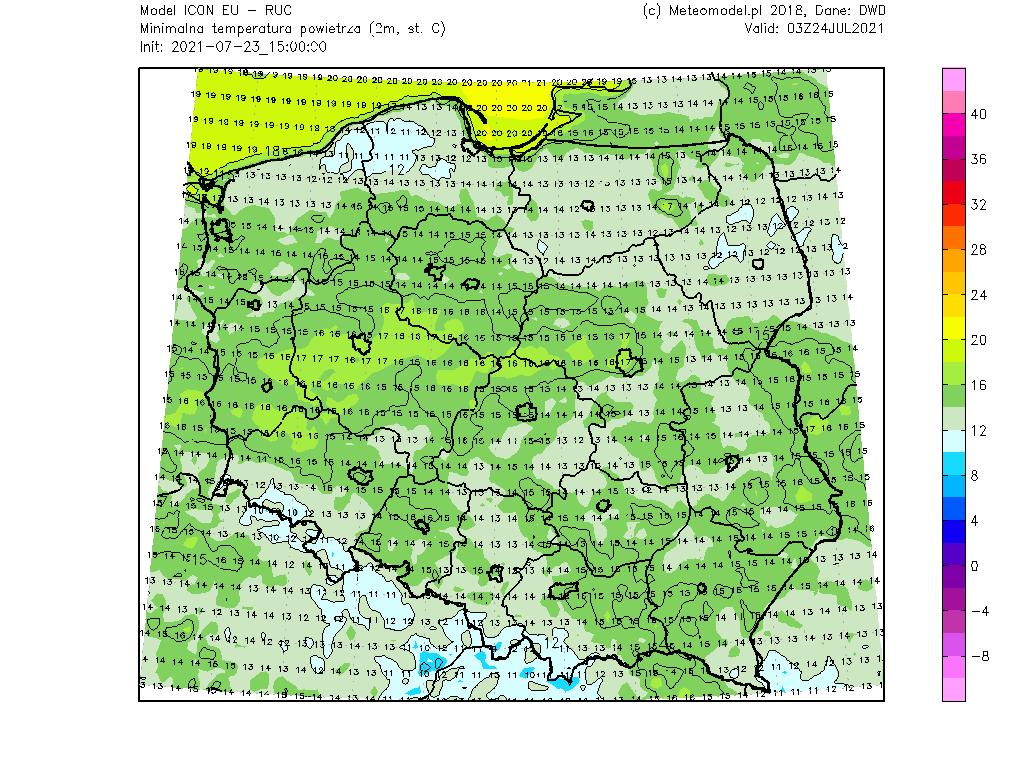 Pogoda. Temperatura w Polsce