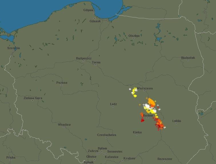 Burze nad Polską o poranku 13 lipca 2021
