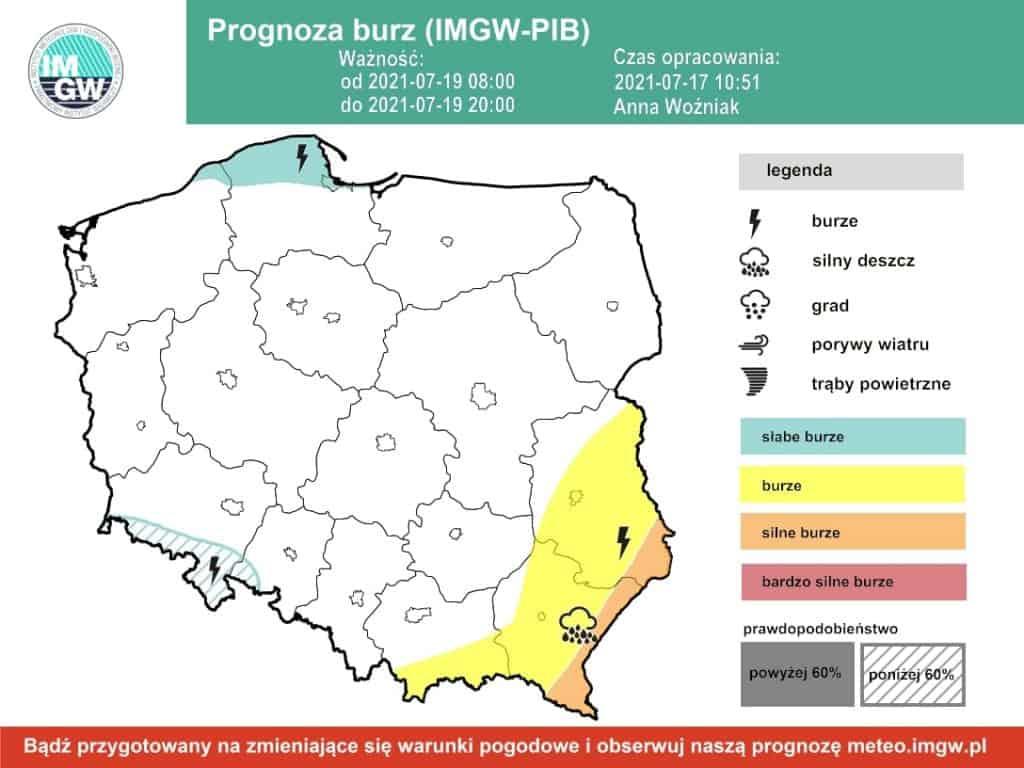 Pogoda na dziś. Burze w Polsce już tylko lokalnie