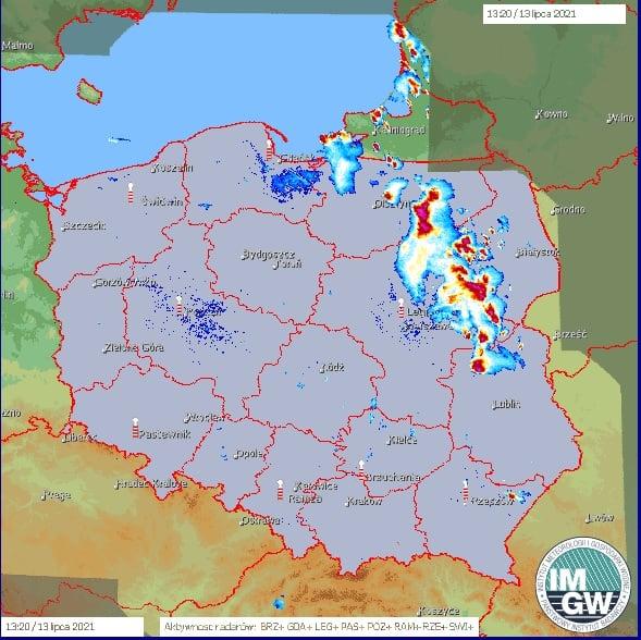 Burze dziś nad Polską. 13 lipca 2021
