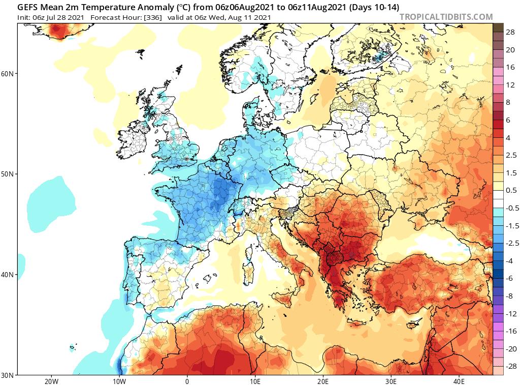 pogoda długoterminowa sierpień. okres od 6.08.2021 do 11.08.2021