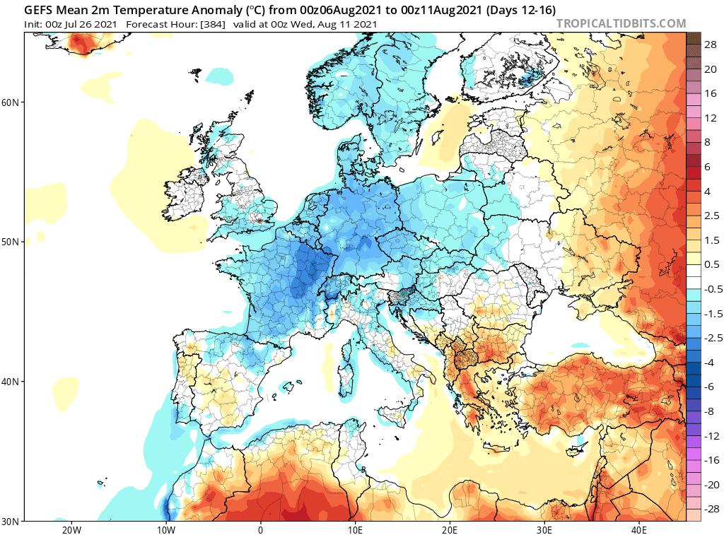 niskie temperatury sierpień