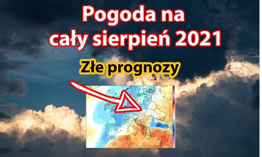 Pogoda długoterminowa sierpień 2021