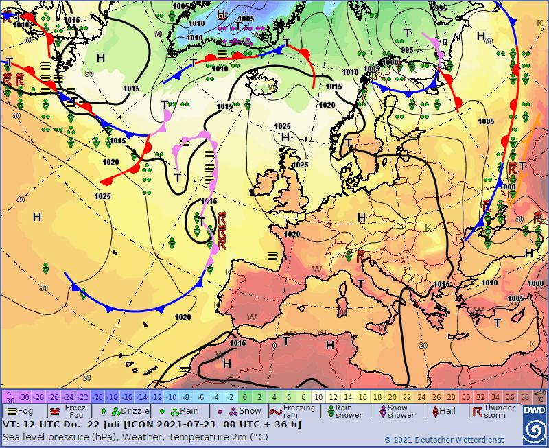 Pogoda na dziś, wyż nad Polską zapewni dobrą pogodę.