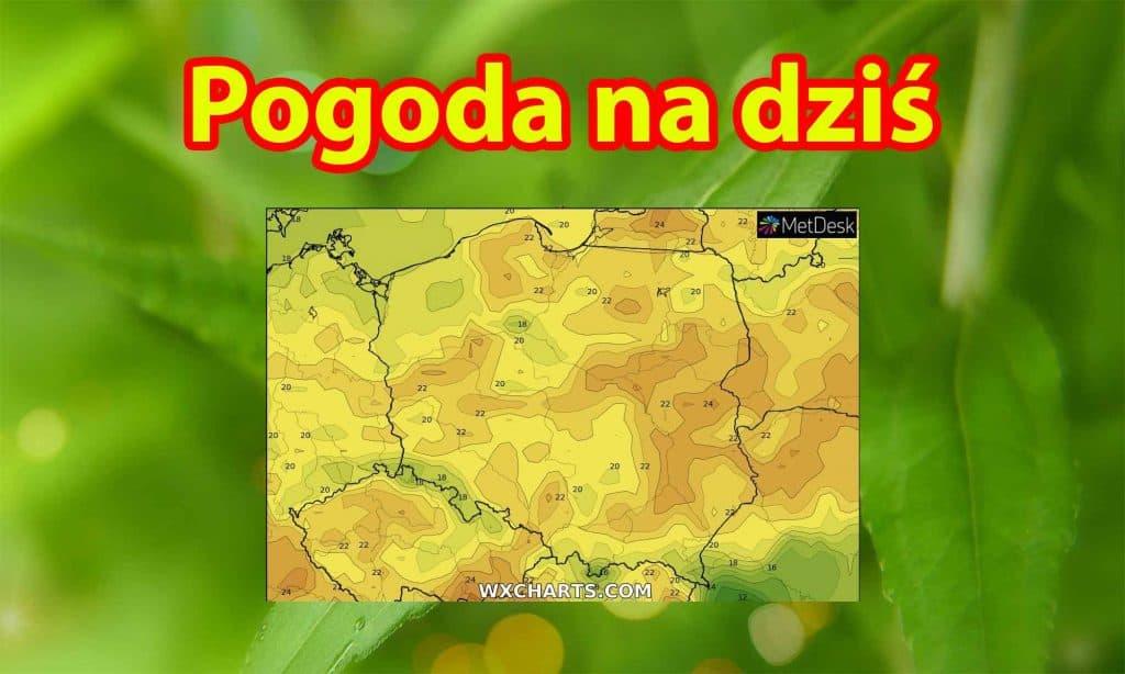 Pogoda na dziś, środę 21 lipca 2021 dla Polski