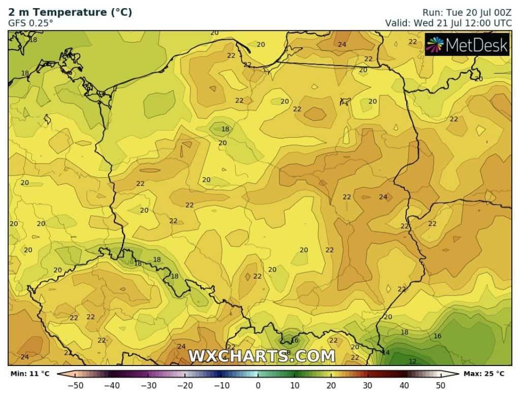 Pogoda na dziś. Temperatura w Polsce