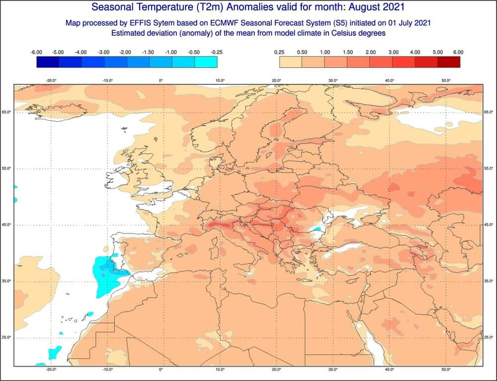 Pogoda na sierpień 2021