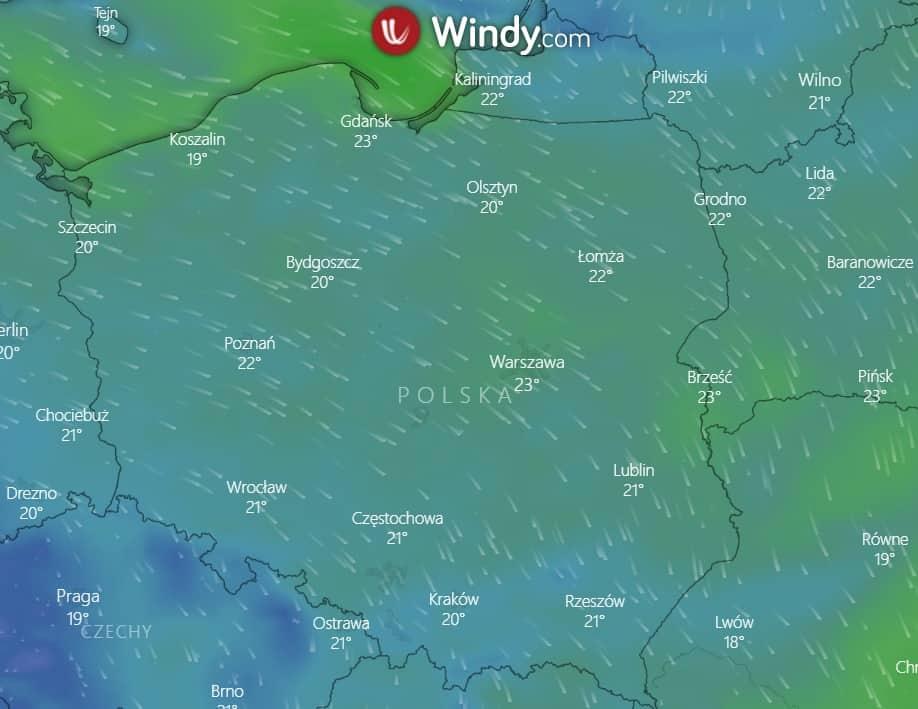 Pogoda na dziś. Wiatr nad Polską
