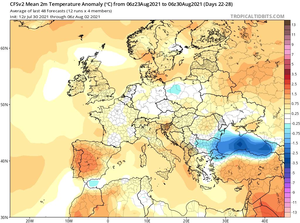 pogoda. anomalia do 30 sierpnia 2021