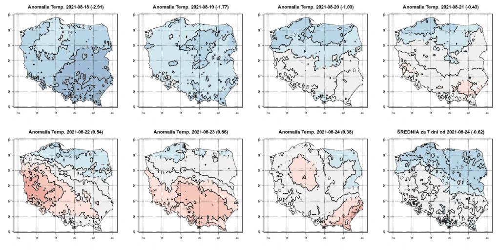 Pogoda długoterminowa do końca sierpnia 2021 dla Polski.. Chłód potem ocieplenie