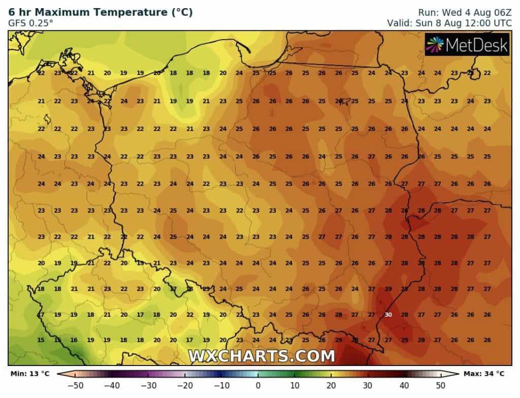 pogoda. gorący okres w pogodzie