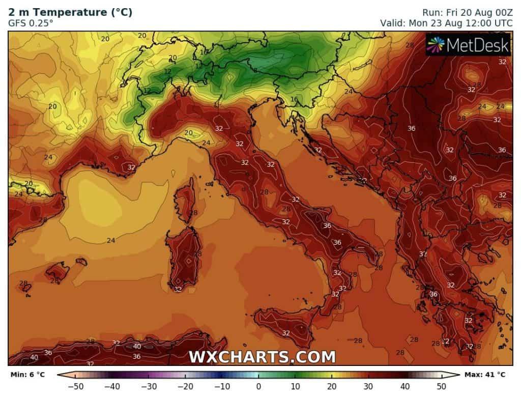 Silny upał na południu Europy