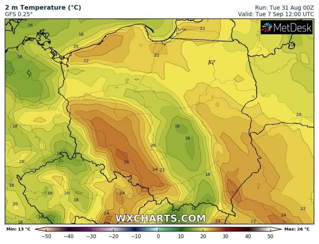 Upał w Polsce nie wystąpi
