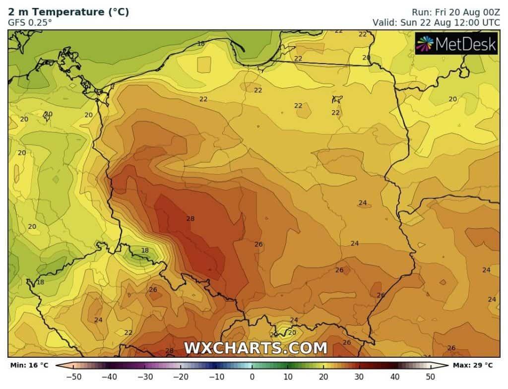 Ostatni upał w Polsce w tym sezonie?