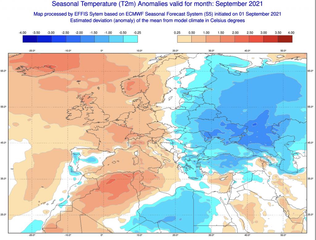 Pogoda długoterminowa do końca września 2021.