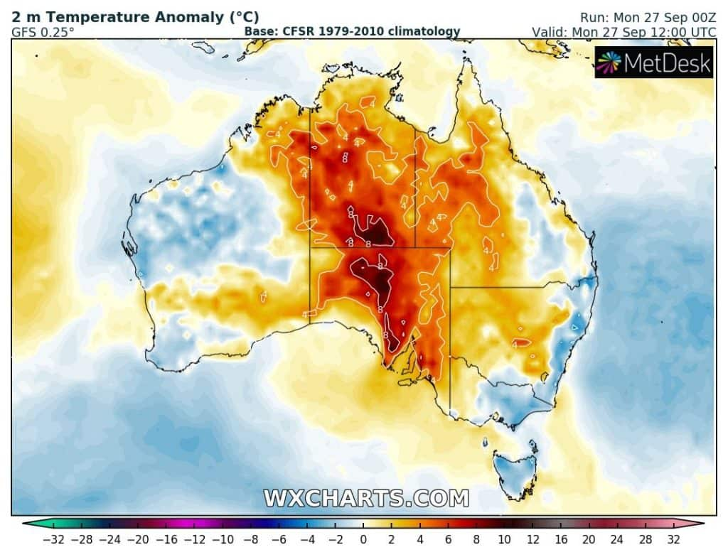 Atak zimy w Nowej Południowej Walii