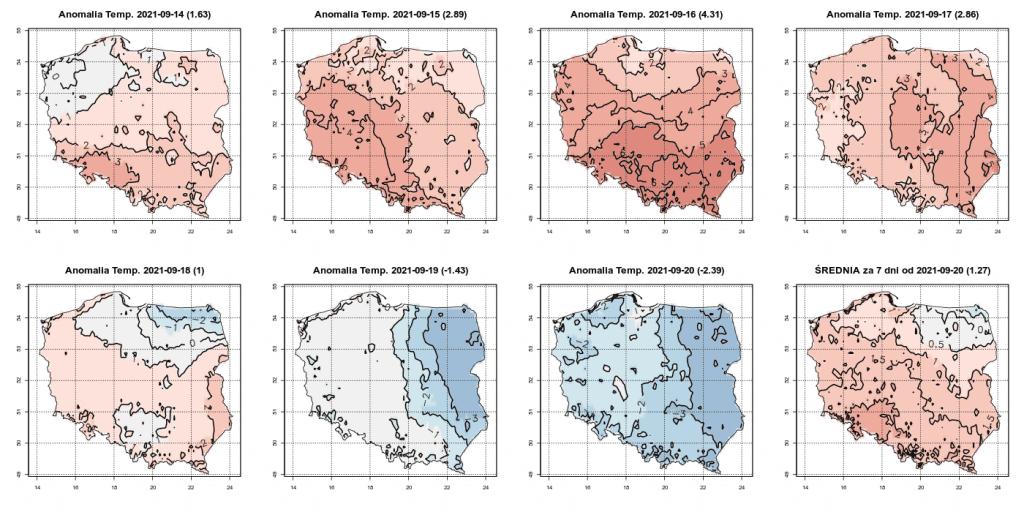 Pogoda długoterminowa do końca września 2021. Złe prognozy. Wystąpią przymrozki i długie okresy ujemnej anomalii temperatury w Polsce