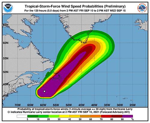 Wędrówka huraganu Larry