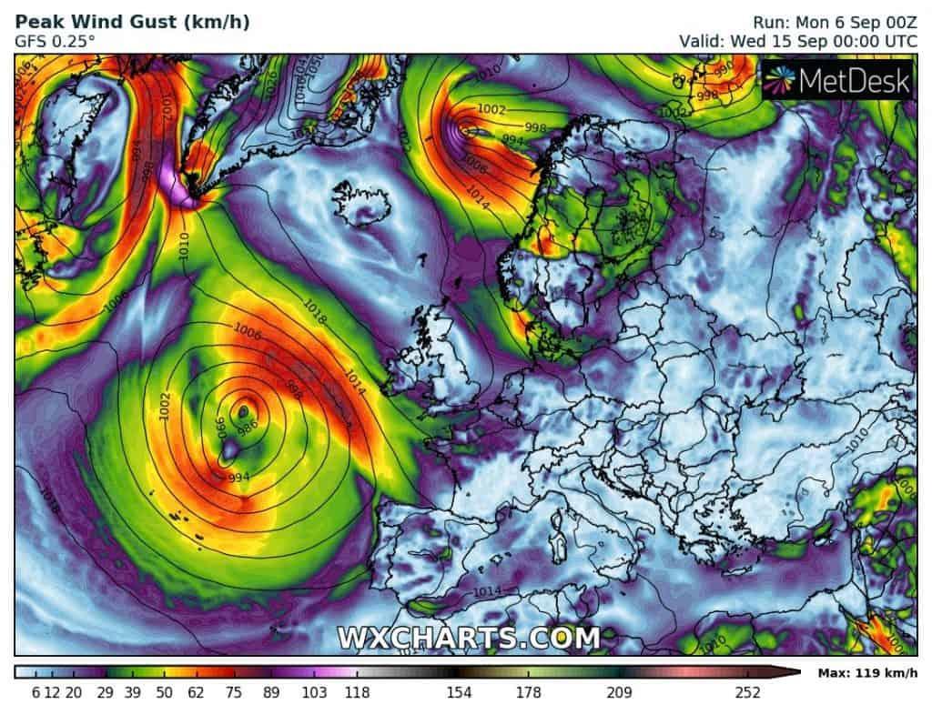 Wichura na Atlantyku. Huragan Larry zbliży się do Europu