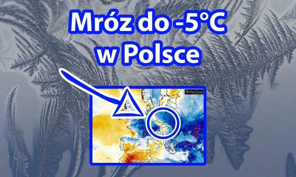 Mróz do -5 stopni w Polsce