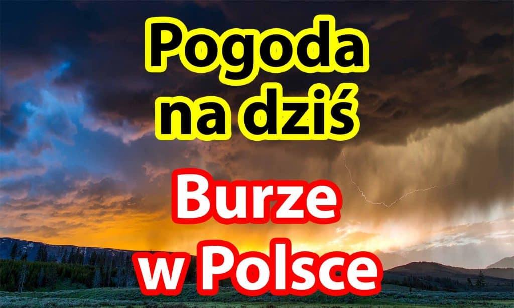 Pogoda na niedzielę 12 września. Burze w Polsce