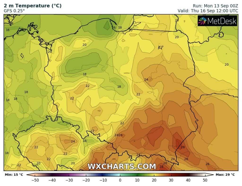 Prawie upał w Polsce