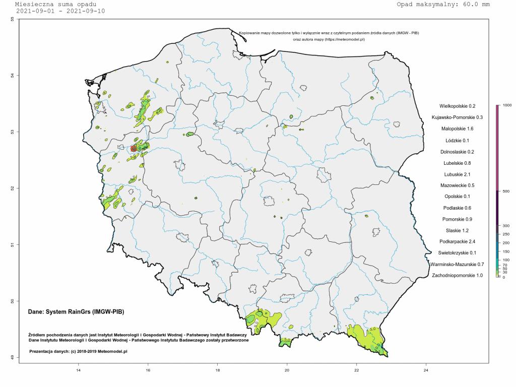 sucho w Polsce