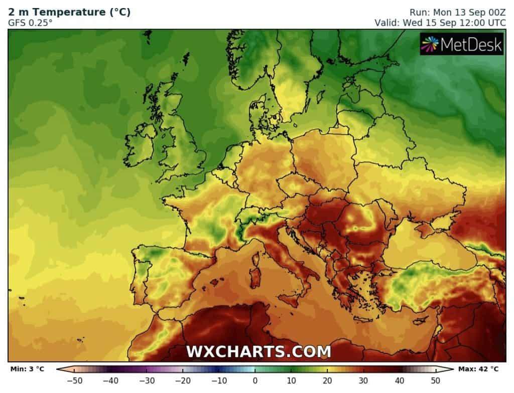 Upał występuje w Europie Połidniowej