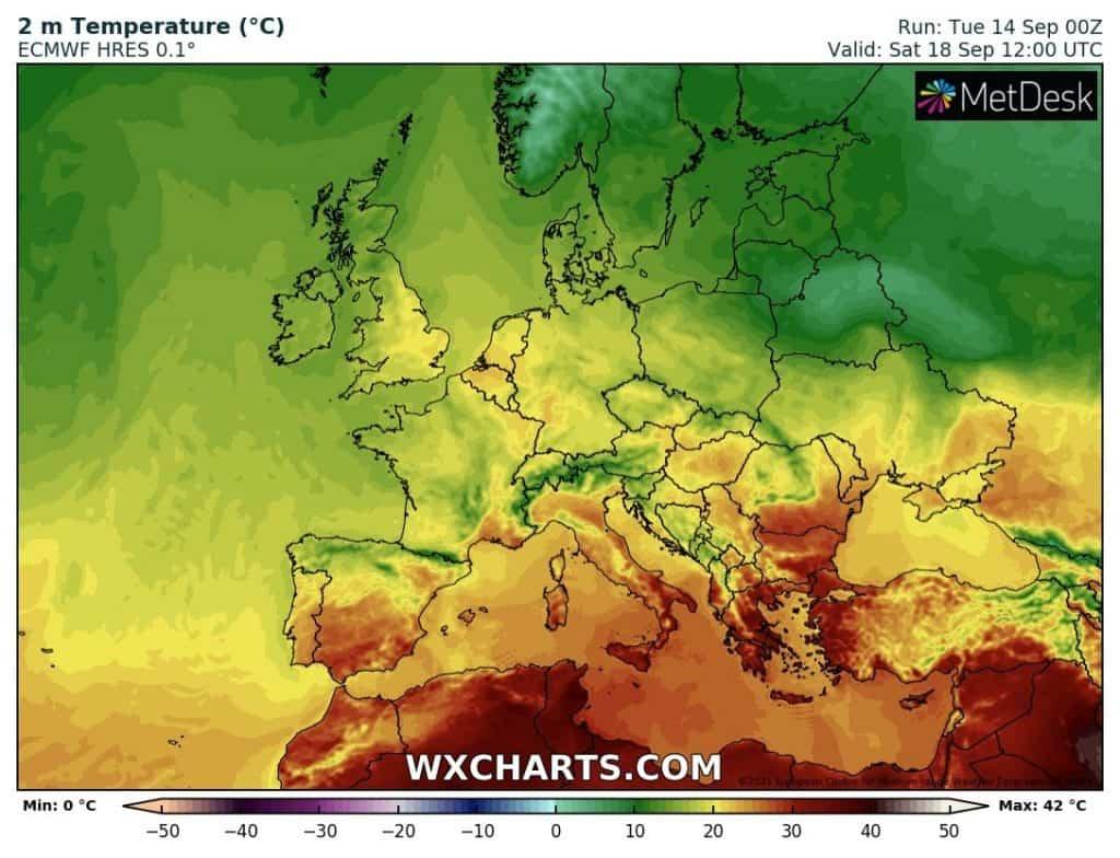 Upał ogranicza się do południa Europy