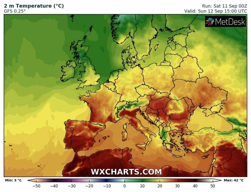 Upał w Europie, lecz atak zimy jest możliwy jeszcze w tym miesiącu.