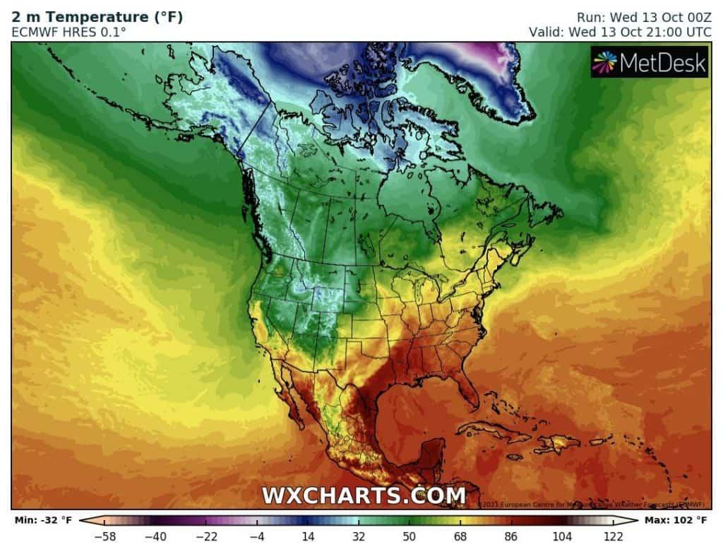 Atak zimy za frontem chłodnym