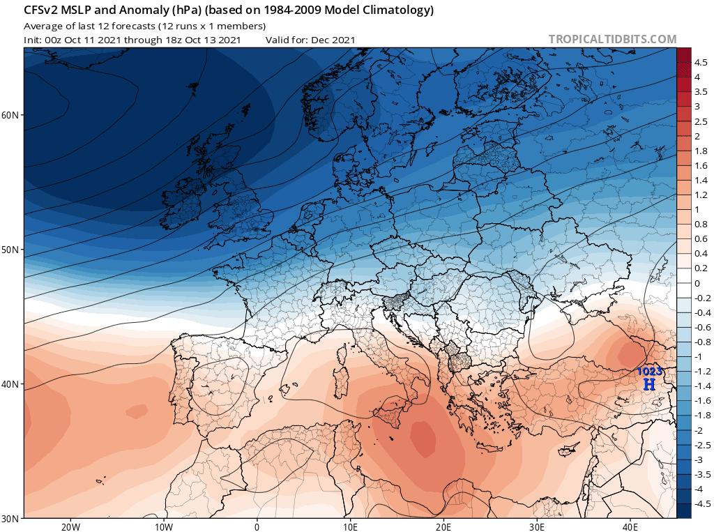 Pogoda długoterminowa na grudzień 2021. Możliwa silna cyrkulacja zachodnia
