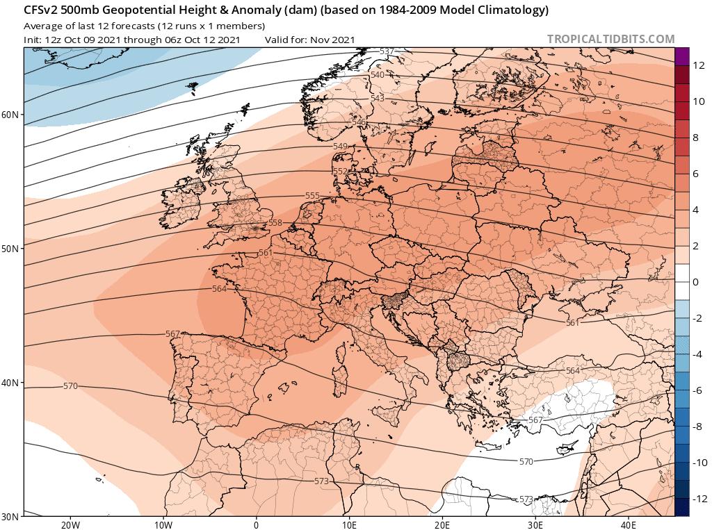 Pogoda długoterminowa na cały listopad 2021