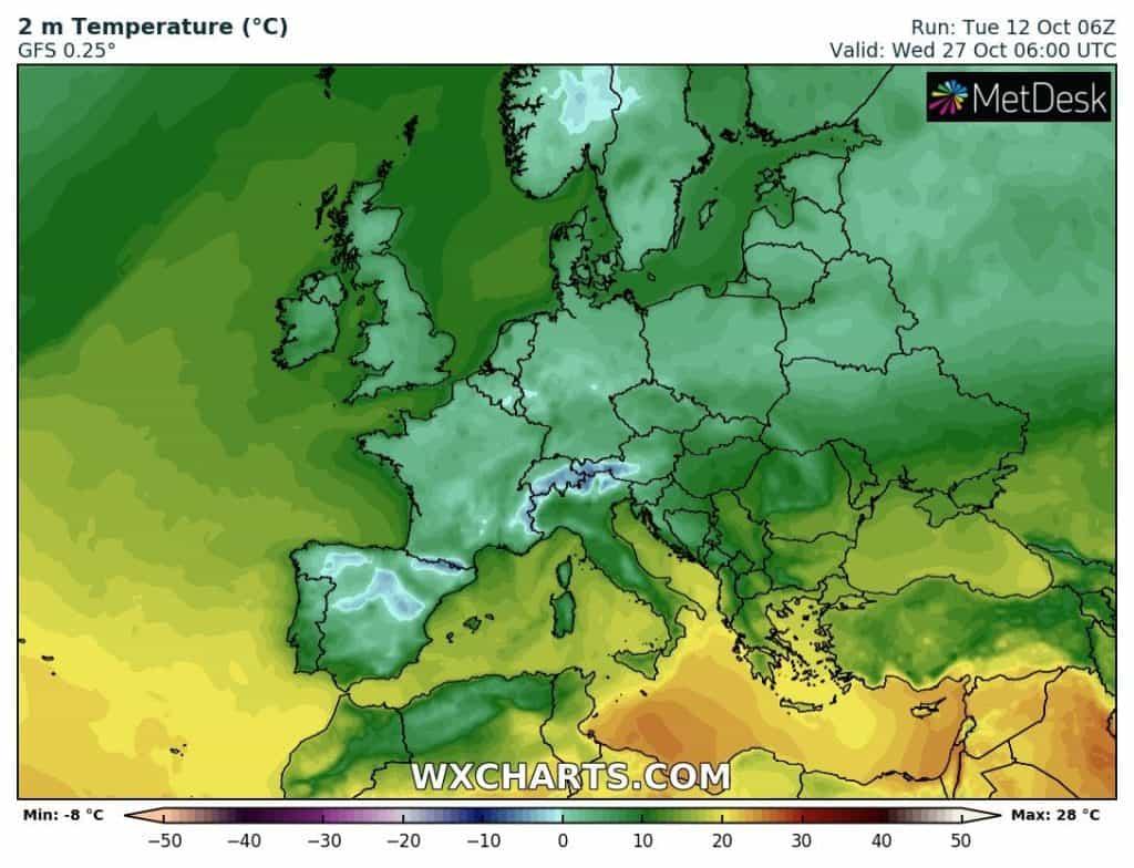 Chłód w Europie. Atak zimy możliwy nawet we Francji