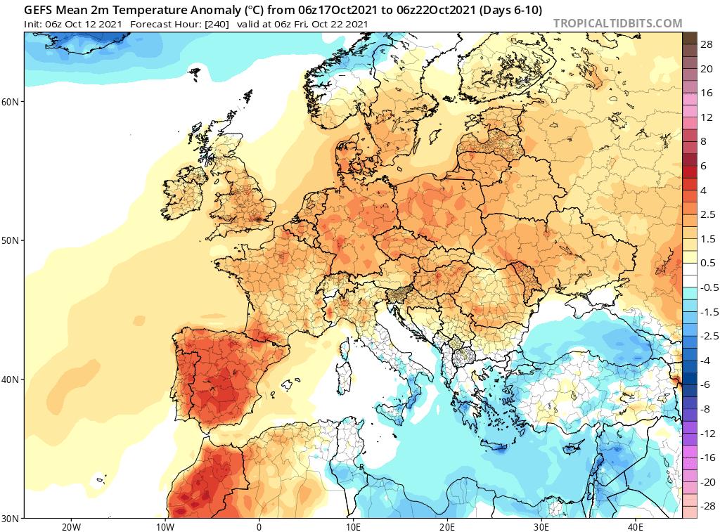 długoterminowa. silne ocieplenie dla polski