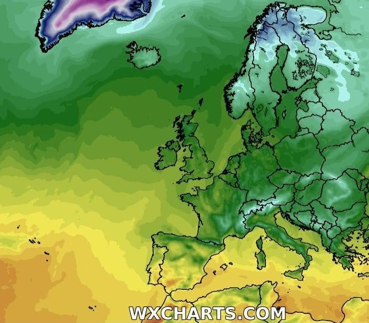 Mróz na północy Europy