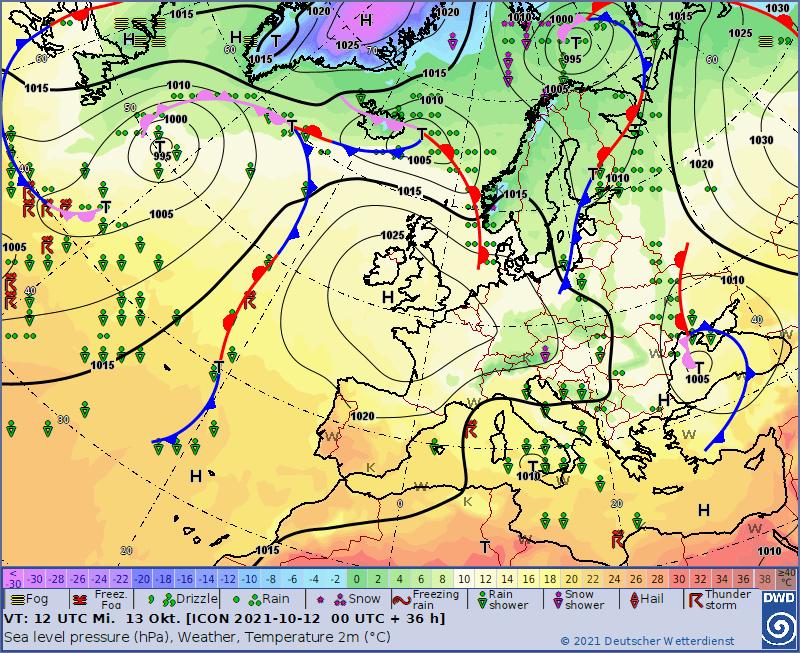 Pogoda na środę. Front nad północną Polską
