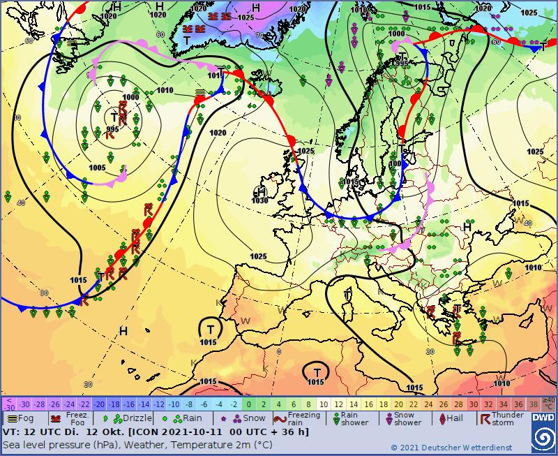 Pogoda na wtorek. Fronty atmosferyczne nad Polską