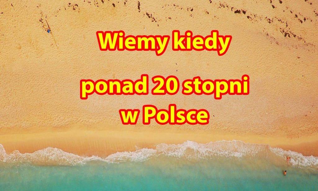 Ocieplenie w Polsce. Ponad 20 stopni